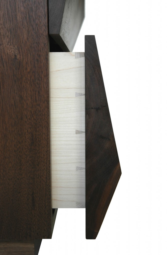 Chest of drawers - Side view of dovetail drawer