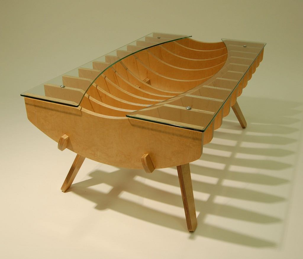 Ribcage coffee table - End view