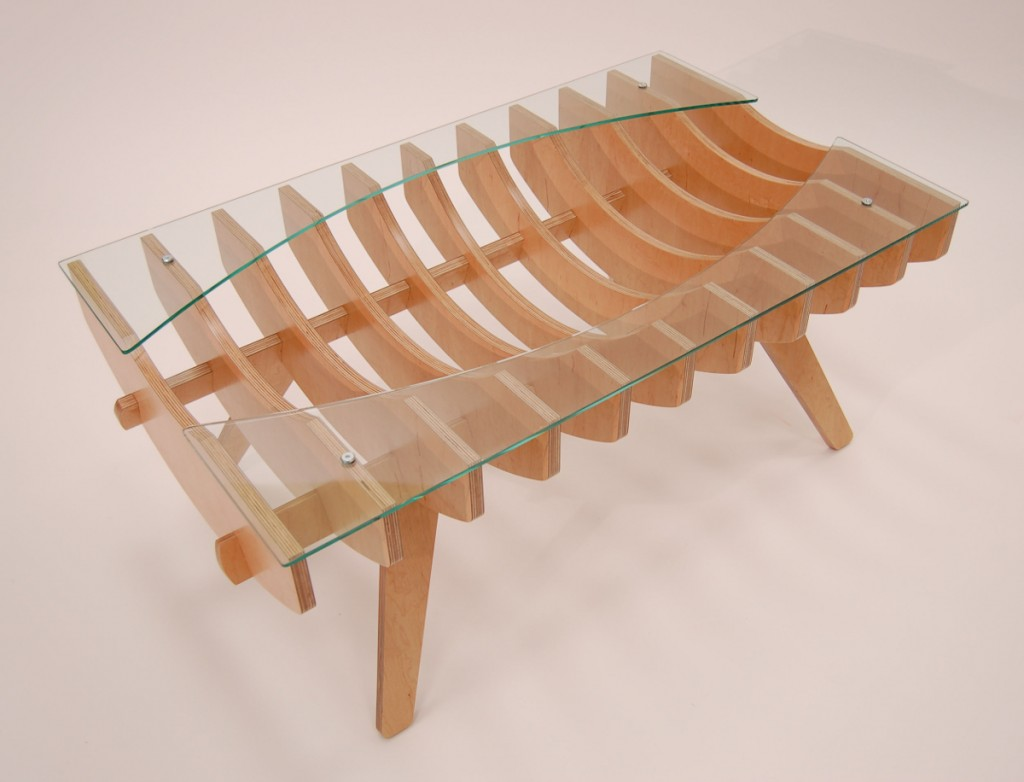 Ribcage coffee table - Perspective view