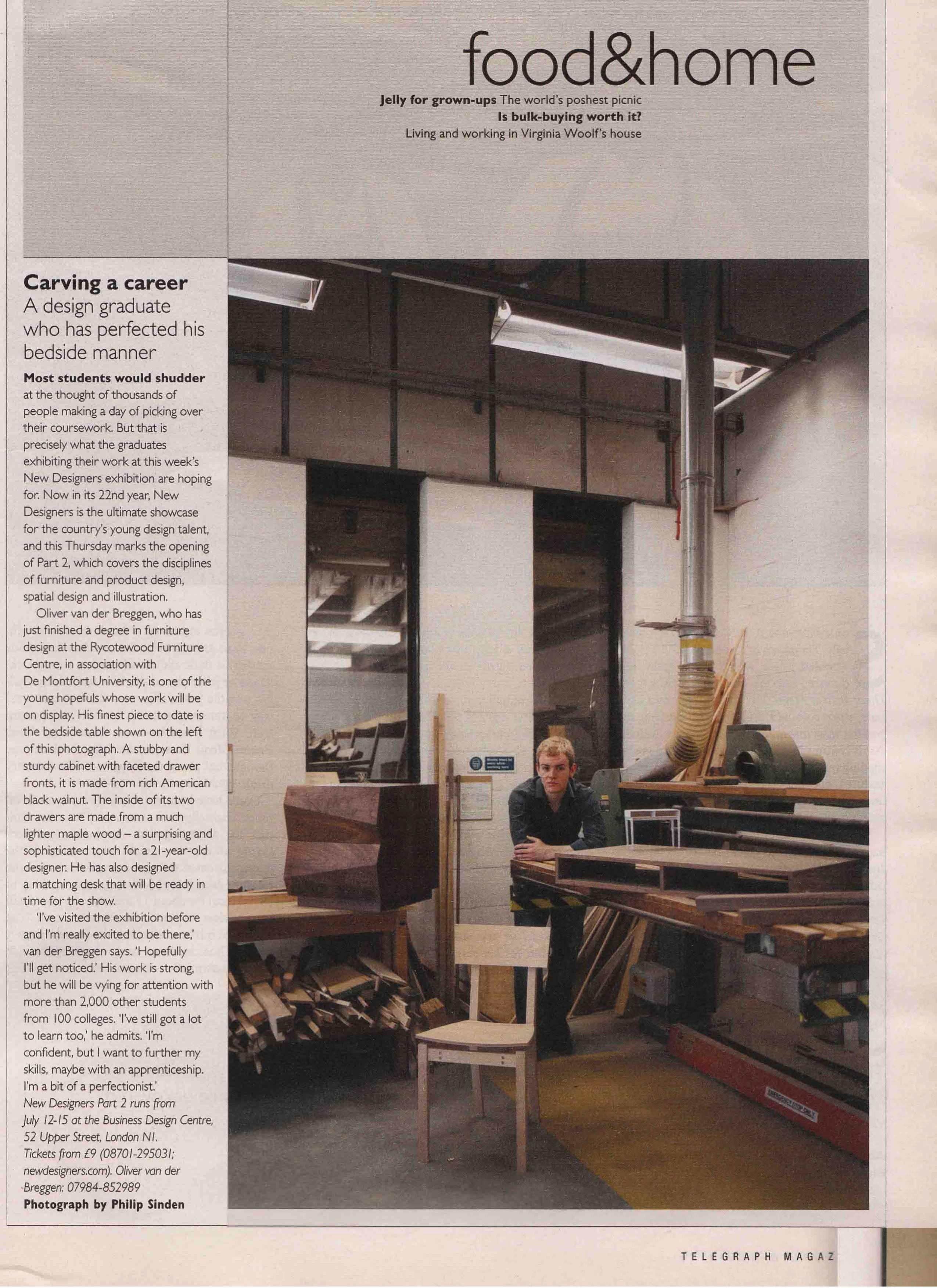 U0027British Makers Of The Futureu0027 New Designers, Furniture U0026 Cabinetmaking  Magazine   October 2007   Readersu0027 Gallery, Furniture U0026 Cabinetmaking  Magazine   May ...