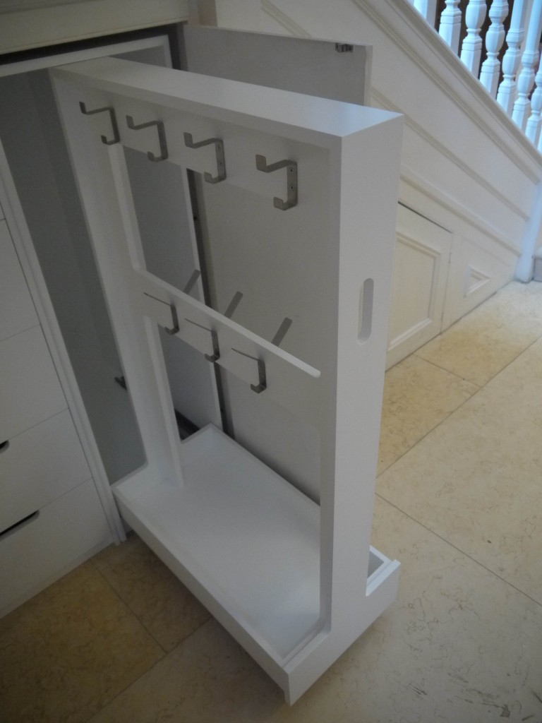 Drawer storage and jacket rack - L/H view